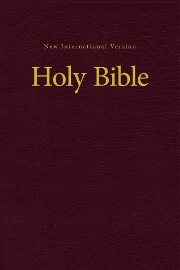 NIV Church Bible - Hardcover Burgundy