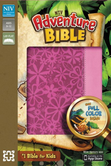 Adventure Bible, NIV - Imitation Leather, Pink With ribbon marker(s)