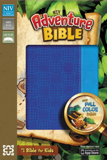 Adventure Bible, NIV - Imitation Leather, Blue With ribbon marker(s)