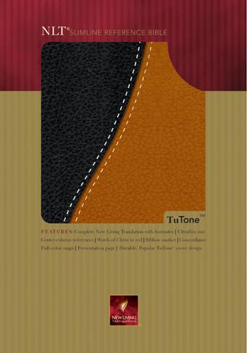 Slimline Reference Bible NLT1, TuTone - Imitation Leather Black/Tan