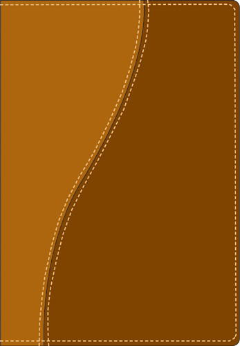 Compact Edition Bible: NLT1, TuTone - Imitation Leather Brown/Tan