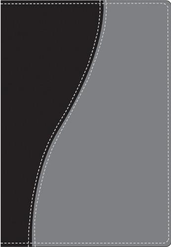 Compact Edition Bible: NLT1, TuTone - Imitation Leather Black/Grey