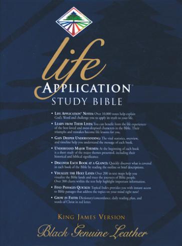 Life Application Study Bible KJV - Genuine Leather Black With ribbon marker(s)