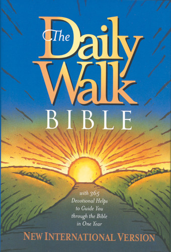 The Daily Walk Bible: NIV - Hardcover With printed dust jacket
