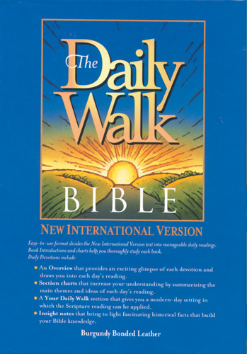 The Daily Walk Bible: NIV - Bonded Leather Burgundy