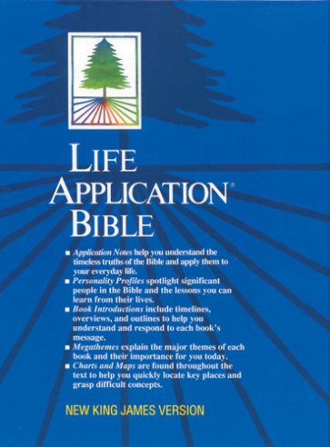 Life Application Bible: NKJV - Bonded Leather Black