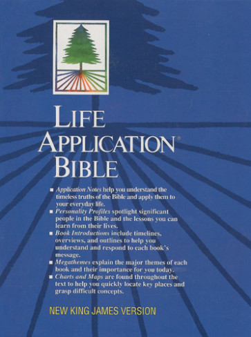 Life Application Bible: NKJV - Bonded Leather Burgundy With thumb index
