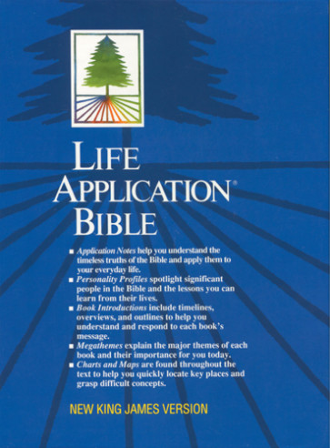 Life Application Bible: NKJV - Bonded Leather Navy