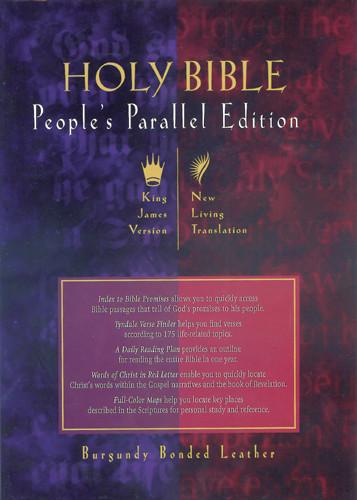 People's Parallel Edition KJV/NLT - Bonded Leather Burgundy