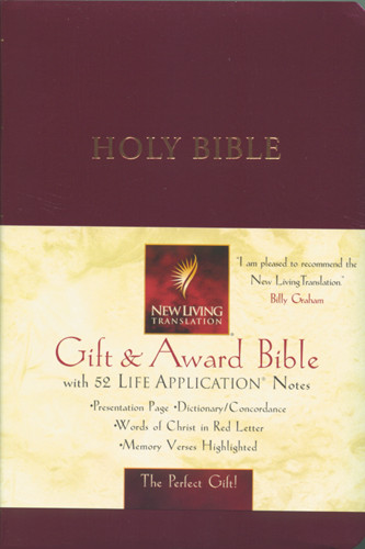 Gift and Award Bible: NLT1 - Imitation Leather Burgundy
