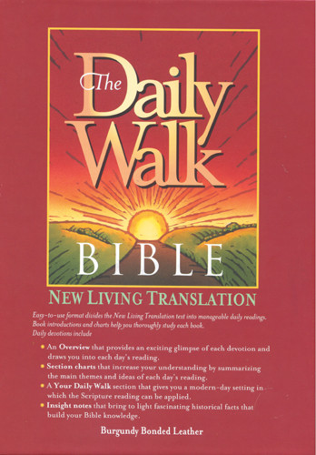 The Daily Walk Bible: NLT1 - Bonded Leather Burgundy