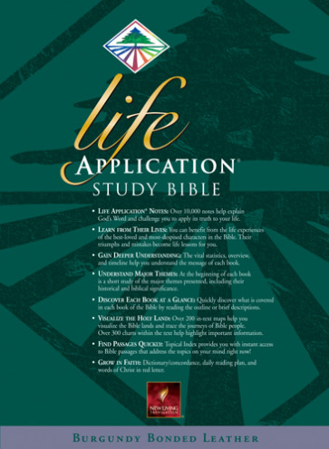 Life Application Study Bible: NLT1 - Bonded Leather Burgundy