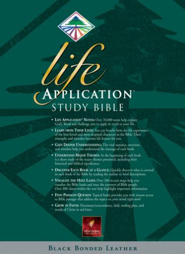 Life Application Study Bible: NLT1 - Bonded Leather Black
