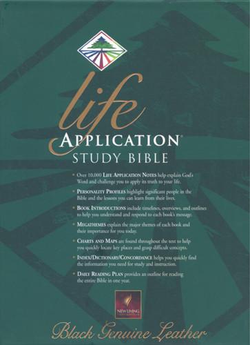 Life Application Study Bible: NLT1 - Sewn Black Genuine Leather
