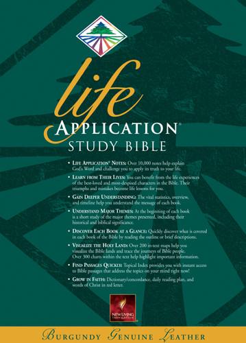 Life Application Study Bible: NLT1 - Sewn Burgundy Genuine Leather
