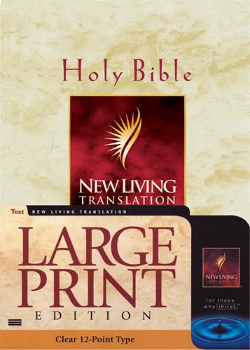 Large Print Bible: NLT1 - Imitation Leather Burgundy
