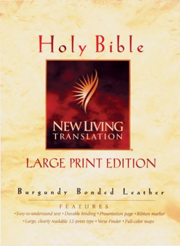 Large Print Bible: NLT1 - Bonded Leather Burgundy