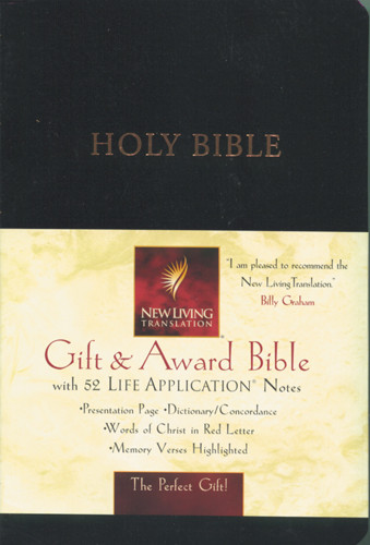 Gift and Award Bible: NLT1 - Imitation Leather Black