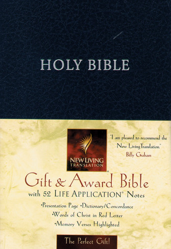 Gift and Award Bible: NLT1 - Imitation Leather Navy