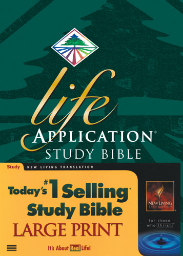 Life Application Study Bible Large Print: NLT1 - Hardcover With printed dust jacket and thumb index