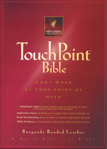 TouchPoint Bible NLT - Bonded Leather Burgundy