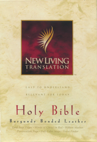 Holy Bible, Deluxe Text Edition: NLT1 - Bonded Leather Burgundy With thumb index
