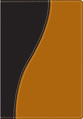 Compact Edition Bible: NLT1, TuTone - Imitation Leather Black/Tan