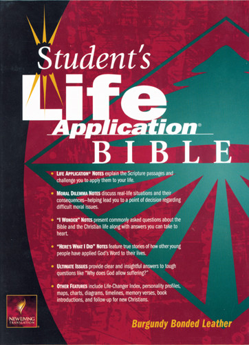 Student's Life Application Bible: NLT1 - Bonded Leather Burgundy