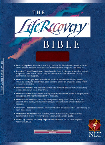 The Life Recovery Bible: NLT1 - Bonded Leather Burgundy With ribbon marker(s)
