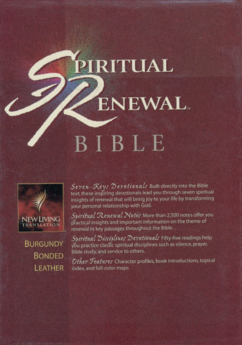 Spiritual Renewal Bible: NLT1 - Bonded Leather Burgundy With thumb index