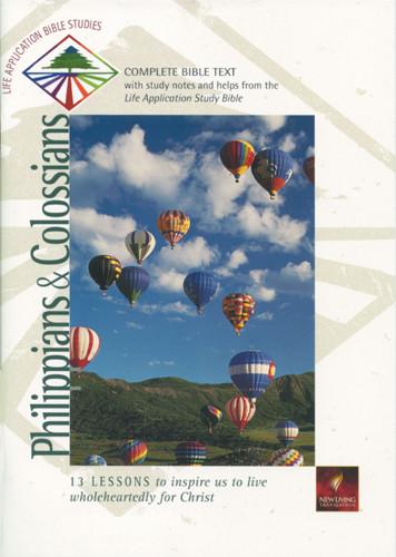 Life Application Bible Studies: Philippians & Colossians: NLT1 - Softcover