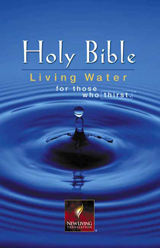 Living Water Bible: NLT1 - Bonded Leather Burgundy