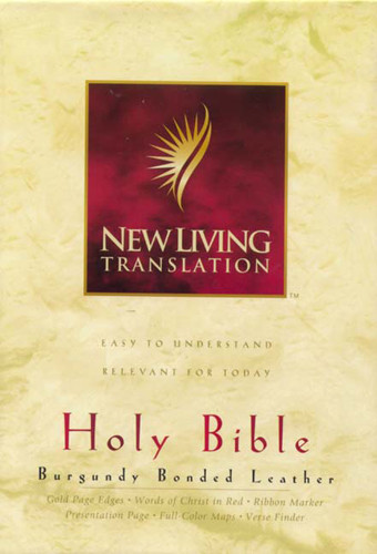 Holy Bible, Deluxe Text Edition: NLT1 - Bonded Leather Burgundy