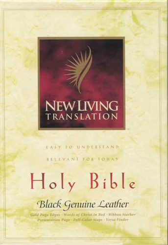 Holy Bible, Deluxe Text Edition: NLT1 - Sewn Black Genuine Leather With ribbon marker(s)