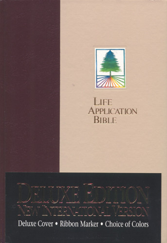 Life Application Bible: NIV - Hardcover Cobble/Plum