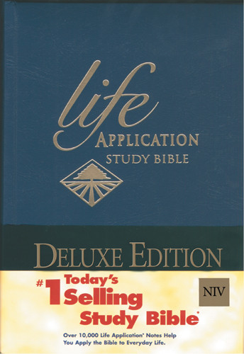 Life Application Study Bible NIV, Deluxe - Hardcover Blue