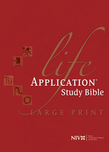Life Application Study Bible Large Print: NIV - Hardcover With thumb index