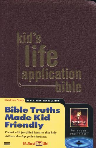 Kid's Life Application Bible: NLT1 - Imitation Leather Burgundy