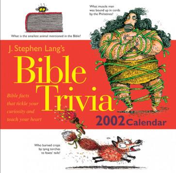 J. Stephen Lang's Bible Trivia 2002 Calendar - Calendar