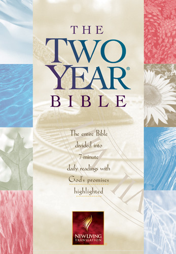The Two Year Bible: NLT1 - Hardcover With printed dust jacket