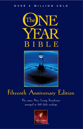 The One Year Bible Fifteenth Anniversary Edition NLT - Softcover