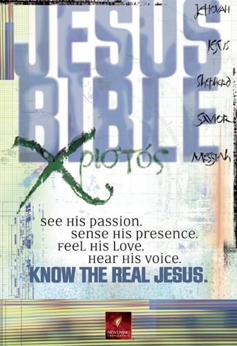 The Jesus Bible: NLT1 - Bonded Leather Burgundy