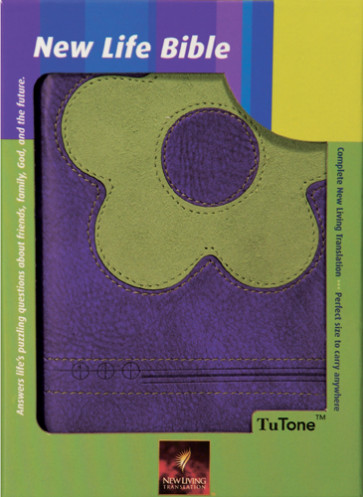 New Life Bible Compact Edition: NLT1, TuTone - LeatherLike Green/Purple With ribbon marker(s)