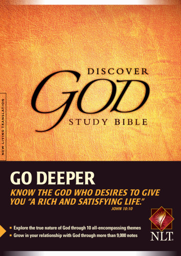 The Discover God Study Bible NLT - Hardcover With printed dust jacket