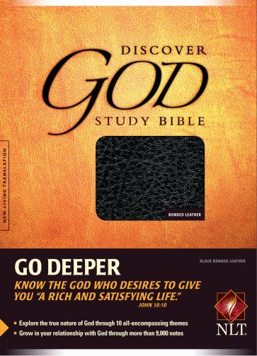 The Discover God Study Bible NLT - Bonded Leather Black