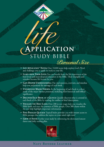 Life Application Study Bible Personal Size: NLT1 - Bonded Leather Navy