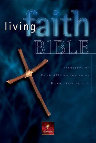 Living Faith Bible: NLT1 - Bonded Leather Burgundy