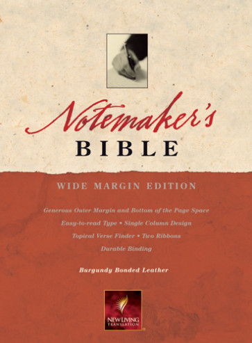 Notemaker's Bible: NLT1 - Sewn Burgundy Bonded Leather