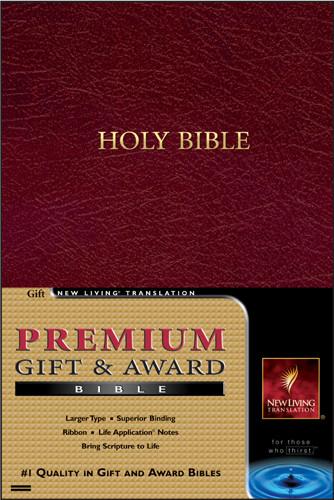 Premium Gift and Award Bible: NLT1 - Imitation Leather Burgundy