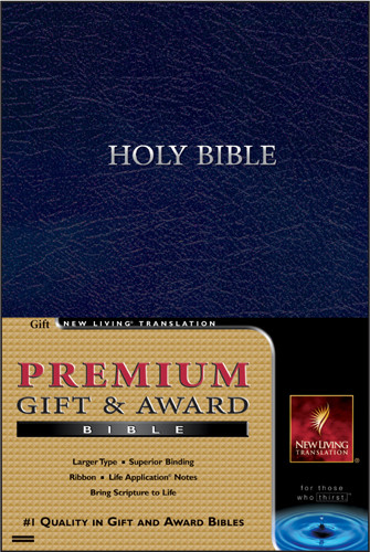 Premium Gift and Award Bible: NLT1 - Imitation Leather Navy
